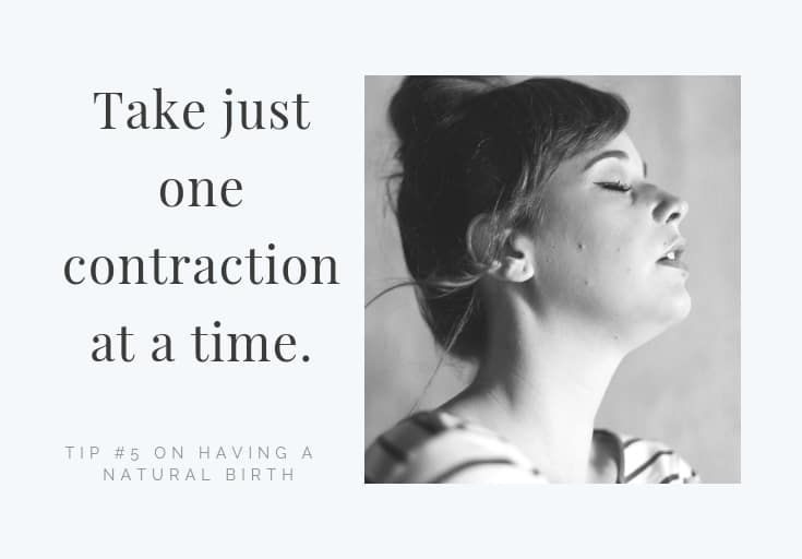 take just one contraction at a time
