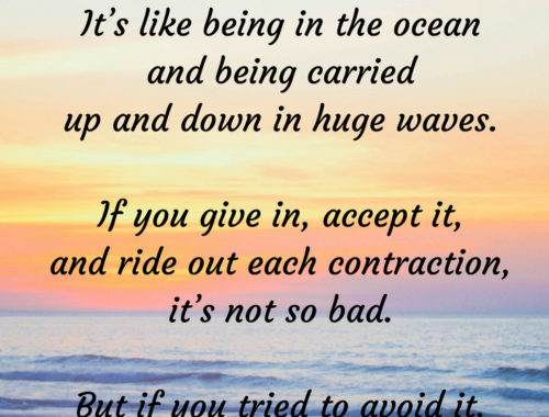 labor is like being in the ocean quote